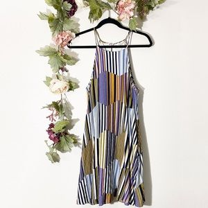 NWOT Entro Retro Striped Halter Swing Dress